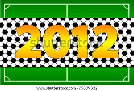 The invitation to the championship on football of Euro 2012 - stock photo