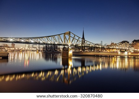 The Iron Bridge in Frankfurt, Hesse, Germany