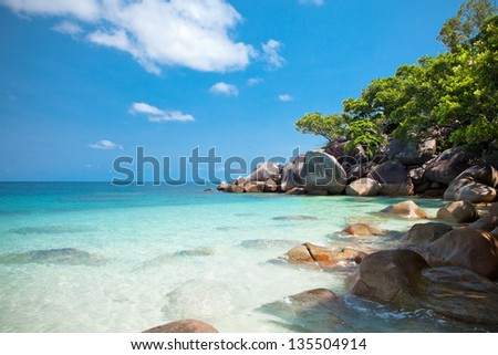 The island - stock photo