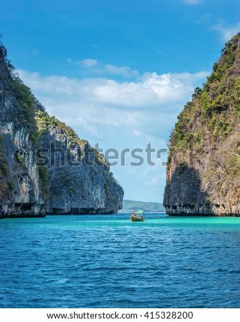 The island of phi phi leh Krabi, Thailand - stock photo
