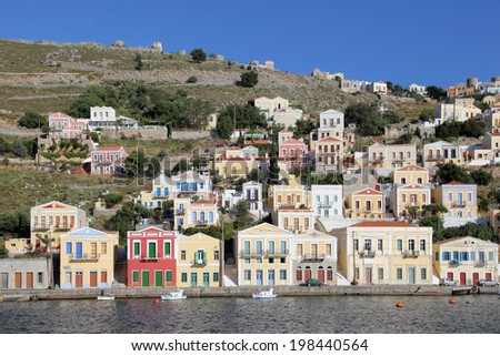 the island of Symi, Greece - stock photo