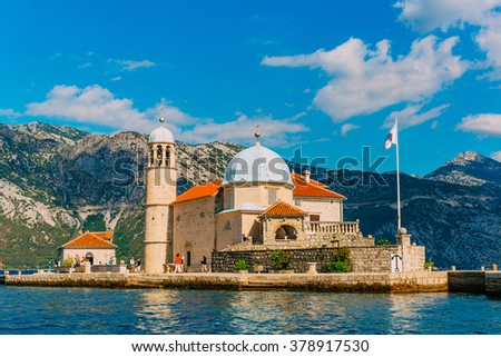 The islands in Perast, Montenegro - stock photo