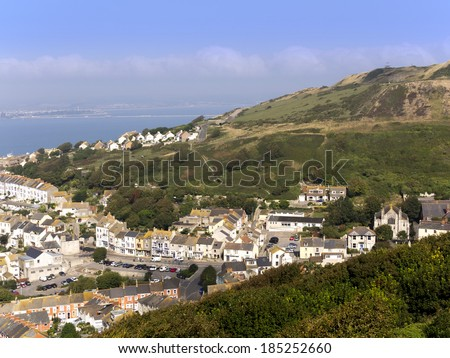 The isle of portland dorset uk - stock photo