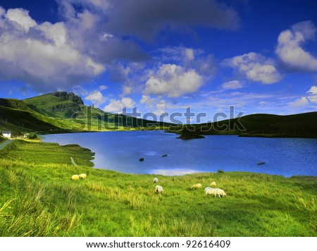 the isle of skye in Scotland, Great Britain UK - stock photo