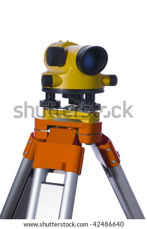 The isolated level of yellow colour on a support - stock photo