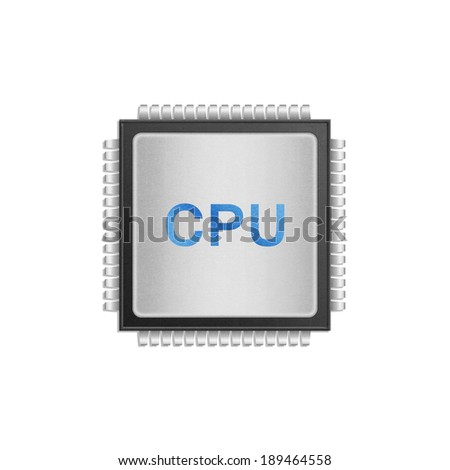 the isolated paper cut of cpu chip is central processor technology in circuit computer on motherboard - stock photo