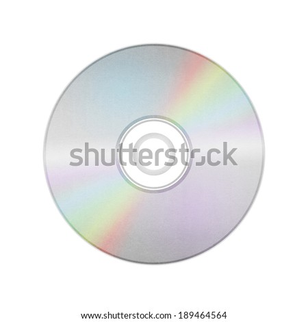 the isolated paper cut of disc cd, dvd, blue-ray disk is record data technology for digital media in computer - stock photo