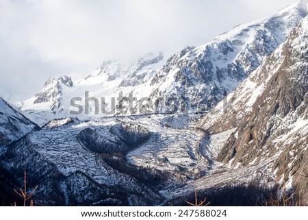The Italian Alps, Italy January - stock photo