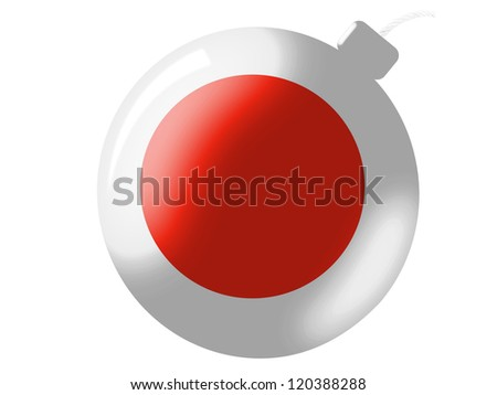 The Japan flag painted on  bomb icon - stock photo