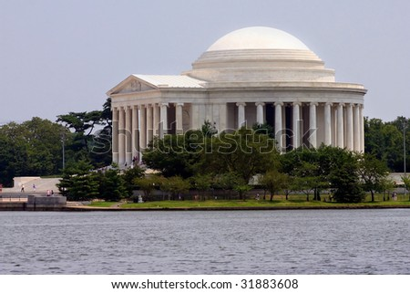 The Jefferson memorial in Washington DC