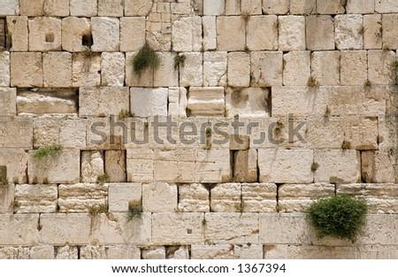The Jerusalem wailing wall - very large image - stock photo