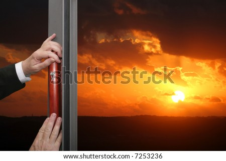 The Jewish symbol-mezuzah - stock photo