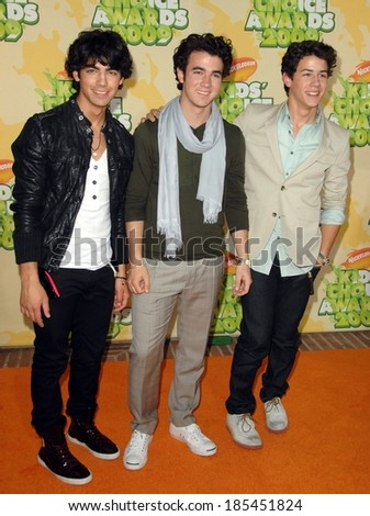 The Jonas Brothers at Nickelodeon's 22nd Annual Kids' Choice Awards - ARRIVALS, Pauley Pavilion, Los Angeles, CA March 28, 2009