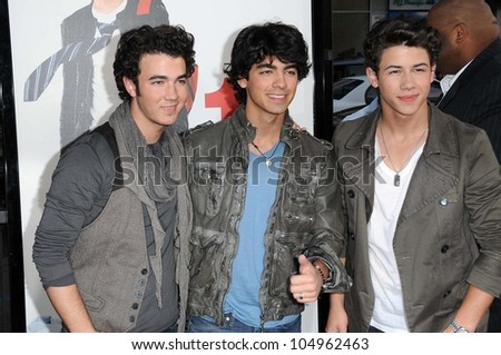 The Jonas Brothers at the Los Angeles Premiere of '17 Again'. Grauman's Chinese Theatre, Hollywood, CA. 04-17-09