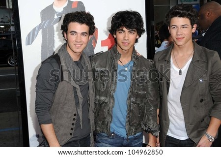 The Jonas Brothers at the Los Angeles Premiere of '17 Again'. Grauman's Chinese Theatre, Hollywood, CA. 04-17-09 - stock photo