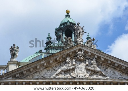 The Justizpalast Munich, Palace of Justice, Germany