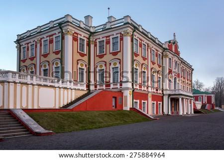 The Kadriorg Palace built by Tsar Peter the Great in Tallinn, Estonia - stock photo