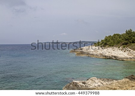 The Kamenjak peninsula in Istria is a paradise for mountain bikers and hikers  - stock photo