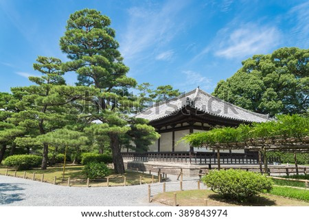 The Kannon-do Hall of Byodo-in Temple in Kyoto, Japan - stock photo