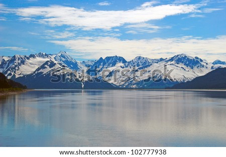 The Kenai Mountains near Girdwood, Alaska - stock photo
