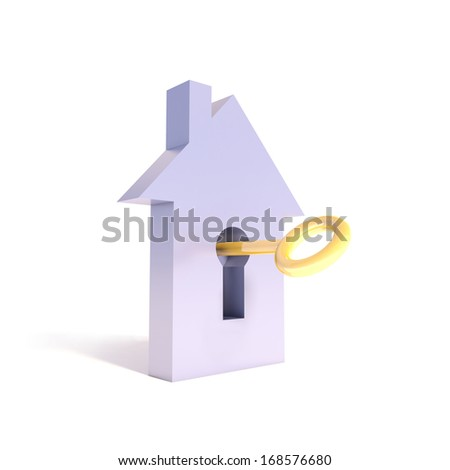 The key of a gift house - stock photo