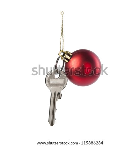 The key to the Christmas toy - stock photo
