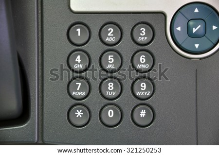 The keypad of the Phone
