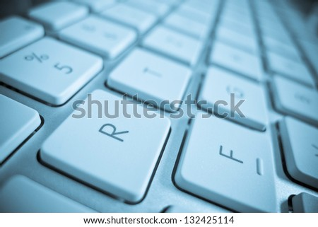 the keys of a computer in a close up. computer and internet. - stock photo