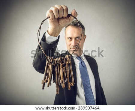 The keys to success  - stock photo