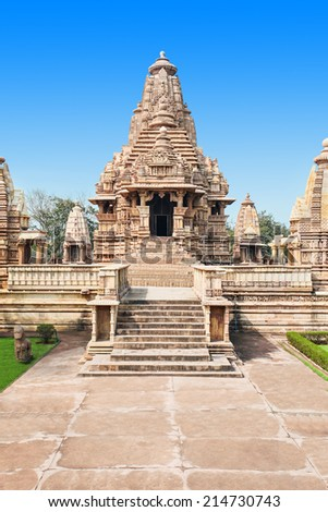 The Khajuraho Group of Monuments are a group of Hindu and Jain temples in Madhya Pradesh, India.