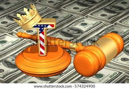 King America V Judicial Branch Legal Stock Illustration 574324900