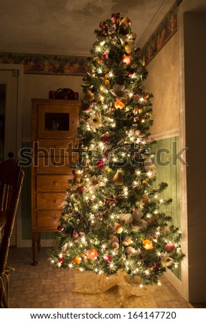 The kitchen Christmas tree - stock photo
