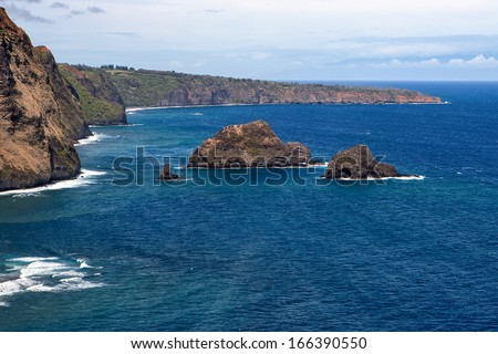 The Kohala Coast of Hawaii - stock photo