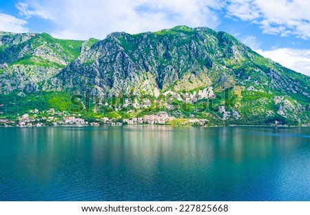 The Kotor bay is the most popular destination for travelers in Montenegro.