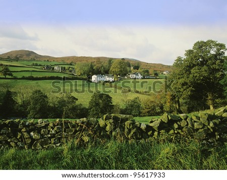 the lake district national park, cumbria, uk - the valley of the river crake near coniston