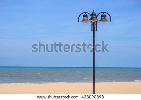 The lamp on the beach