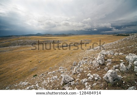 The landscape and mountains - stock photo