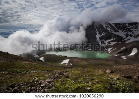 the landscape. mountain landscape with alpine lake