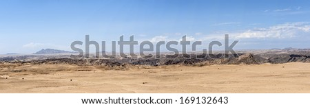 The landscape of Namib Desert in Namibia.