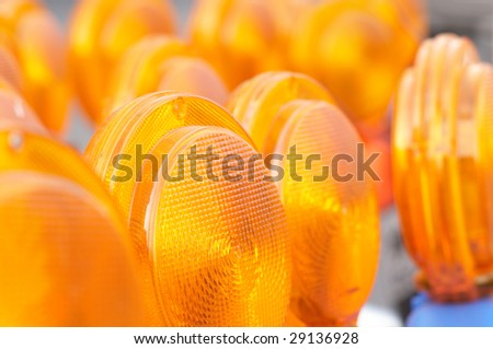The large group of reflectors - stock photo