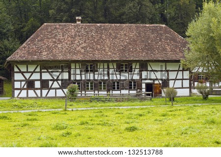 The large multi-purpose house from Uesslingen - stock photo