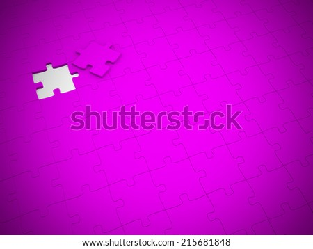 The last piece of a jigsaw puzzle  - stock photo