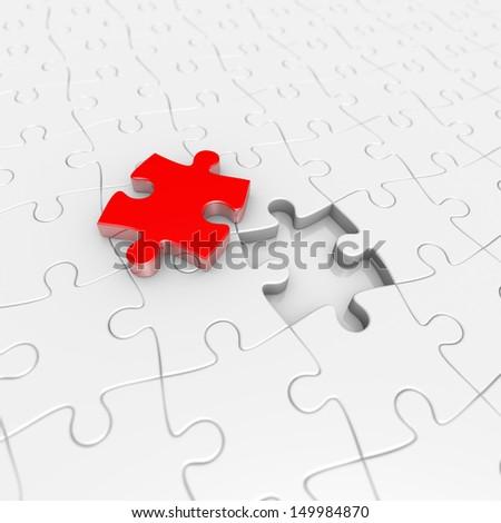 the last puzzle piece - stock photo