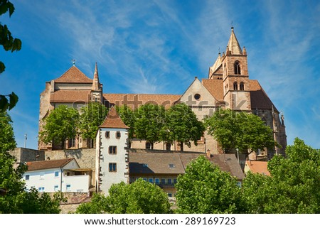 The late Romanesque Stephans Cathedral in Breisach on the Upper Rhine in Baden-W�¼rttemberg