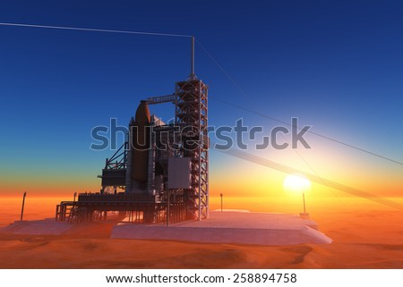The launch against the sky. - stock photo