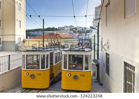 The Lavra Funicular, Lisbon, Portugal, Europe - stock photo