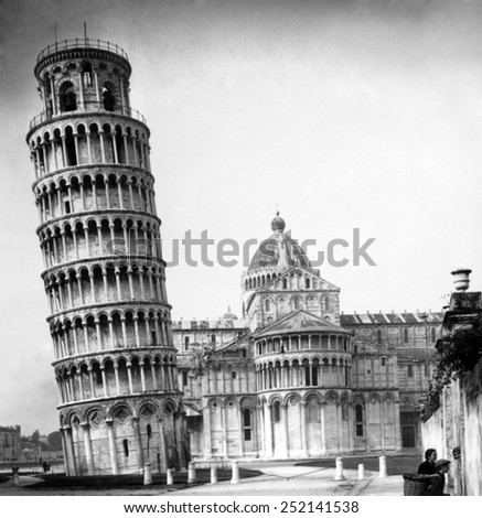 The Leaning Tower and Cathedral of Pisa, Pisa, Italy. - stock photo