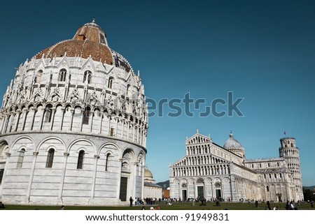 The Leaning Tower, Duomo and Battistero of Pisa