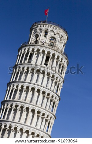 The Leaning Tower in Pisa, Italy, Romanesque architecture in Tuscany