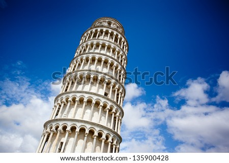 The Leaning Tower, Pisa, Italy - stock photo